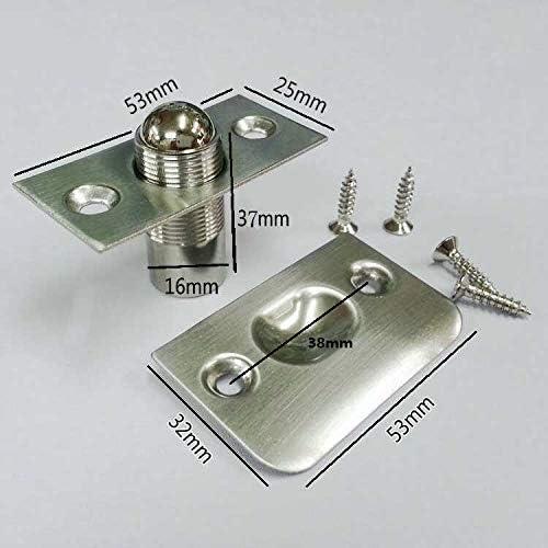 Color : Metallic YIJIZE 24Pcs//Lot Stainless Steel Adjustable Spring Ball Catch Latch Doorstops Door Stopper Built-in Stopper