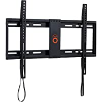 ECHOGEAR Low Profile Fixed TV Wall Mount Bracket for most 32-80 inch TVs - Holds TV 1.25 from the Wall - Great for LED, LCD, OLED and Plasma Flat Screen TVs - EGLL1-BK
