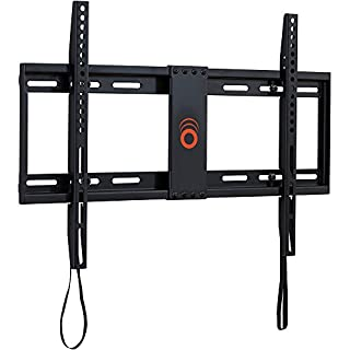 """ECHOGEAR Low Profile Fixed TV Wall Mount for TVs Up to 80"""" - Holds Your TV Only 1.25"""" from The Wall - Pull String Locking System for Easy Cable Access - Big Hardware Assortment for Simple Install"""