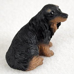 Amazoncom Dachshund Longhaired Black Dog Figurine Height Approx