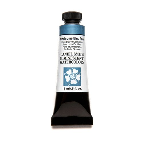 Daniel Smith Series (DANIEL SMITH Extra Fine Watercolor 15ml Paint Tube, Duochrome Blue Pearl)
