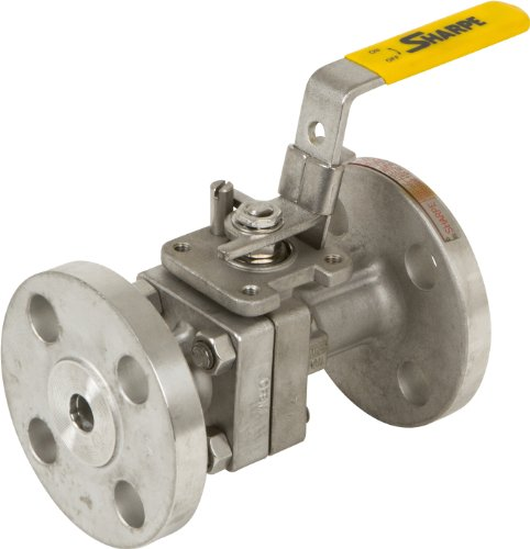 (Sharpe Valves FS50 Series Stainless Steel 316 Fire Safe Ball Valve, Class 300, Inline, Lockable Lever Handle, 1