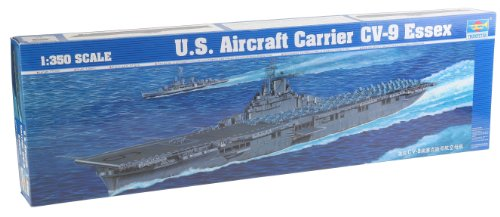 Trumpeter 1/350 USS Essex CV9 Aircraft Carrier Model, used for sale  Delivered anywhere in USA