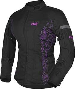 Amazon.com: HWK Chaqueta de moto para mujer, chaqueta ...