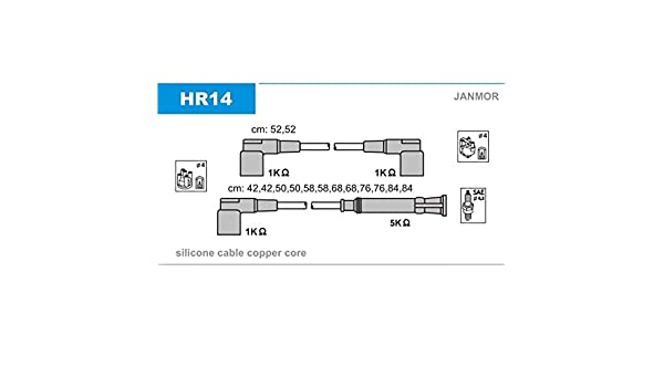 JANMOR HR14 OE QUALITY IGNITION CABLE SET
