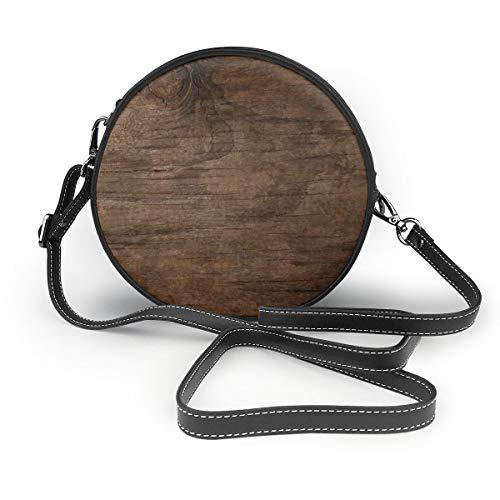 Rattan Bark - QWERDF Texture of Bark Wood Use As Natural Women Genuine Nanoprint Handle Shoulder Purse Crossbody Bag