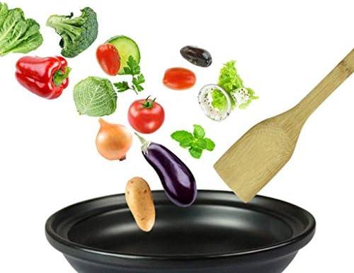 WEIZI avec Couvercle d'entonnoir en grès Convient à Tous Les Types de cuisinières tajine de Cuisson Naturel Non Toxique Non émaillé adapté à Votre Cuisine Multiple (Taille: 24 cm)