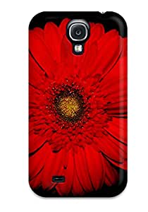 David J. Bookbinder's Shop 6818877K15692225 premium Phone Case For Galaxy S4/ Red Flowers Tpu Case Cover