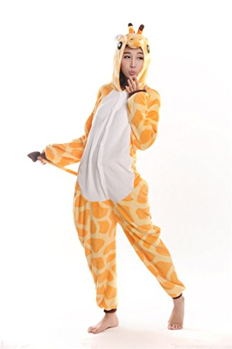 Adults Animal Pajamas Kigurumi Pajamas Cosplay Costumes Anime Pajamas Animal Onesies Giraffe-m