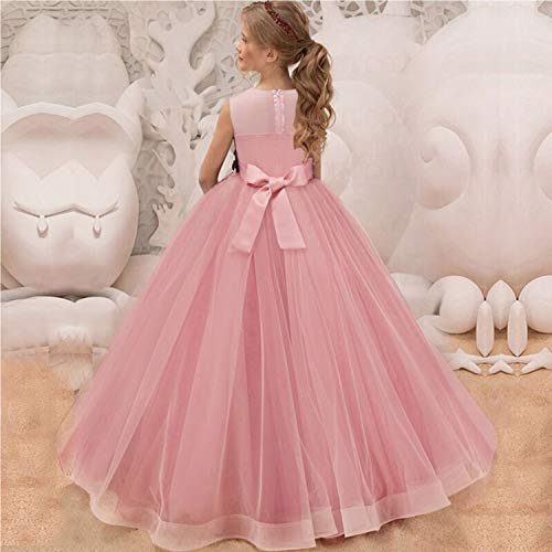 TTYAOVO Girls Pageant Ball Gowns Kids Chiffon Embroidered Wedding Party  Dress 7ca9b2b39415