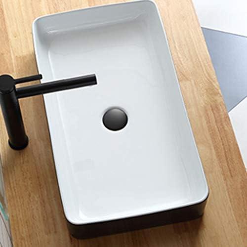 ミニ型洗面台,省スペース 陶器 洗面ボール 洗面ボウル 楕円形 洗面台 手洗器 洗面台 手洗い鉢 おしゃれ 洗面ボ ガラス 手洗い鉢 手洗い器 壁付け型 (Color : BlackWhite)