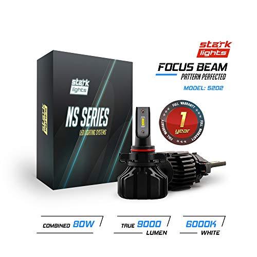 Stark NS Series [UPGRADED] 80W Fog Light Conversion Kit - 9000LM - 6000K Crystal White - Bulb Size: 5202
