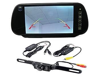 bw hd x tft color car mirror monitor amazon co uk bw 7 quot hd 800x480 tft color car mirror monitor wireless 7 ir night vision