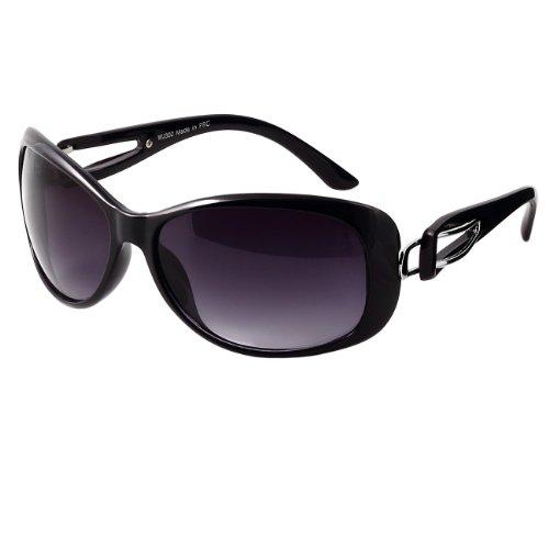 CASPAR Damen Luxury Sonnenbrille - 4 Farben, Farbe:schwarz