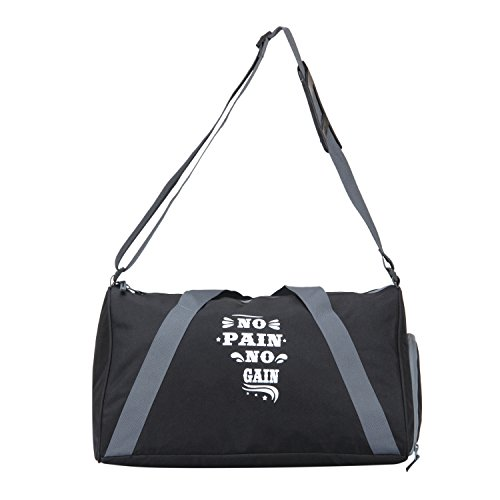 PinStar Fitness Polyester 25.2 Ltrs Black Gain Gym Bag