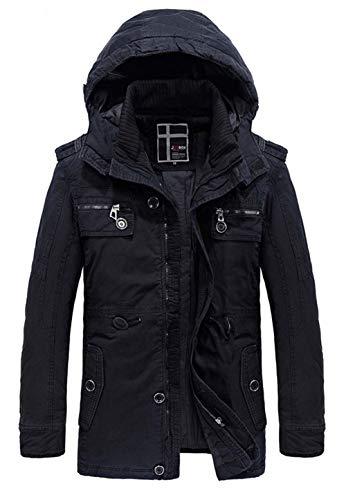 Detachable Jacket Moxishop Men's Plus Cotton Hooded Thick Windproof Black Parker Velvet Warm Windbreaker Winter Coat Men's Long Jacket Men's q4qwf0