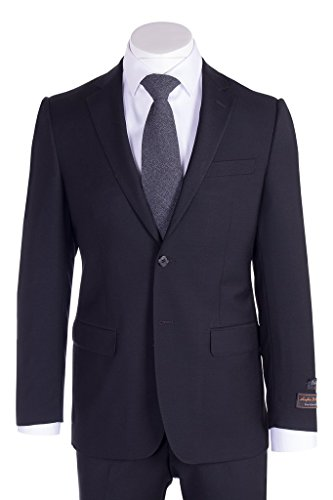 Black Wool Suit - Tiglio Novello Black Modern Fit, Pure Wool Suit TIG1001