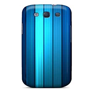 Tpu CharlesStanley Shockproof Scratcheproof Blue Stripes Hard Case Cover For Galaxy S3