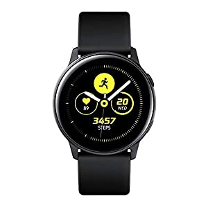 Samsung Galaxy Watch Active – 40mm, IP68 Water Resistant, Wireless Charging, SM-R500N International Version (Black)