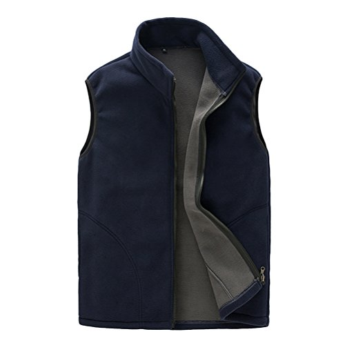 Aire Libre Breathable Unisex Womens Gilet Body Shell Al mens Zhhlinyuan Warmer Fleece Mens Outwear Soft Zipper Vest Navy Sports Blue tzX1wYq