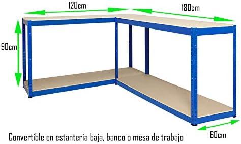 Estantería Metálica Futtal de 180x120x60 con 4 Pisos Muy Fuerte Azul: Amazon.es: Bricolaje y herramientas