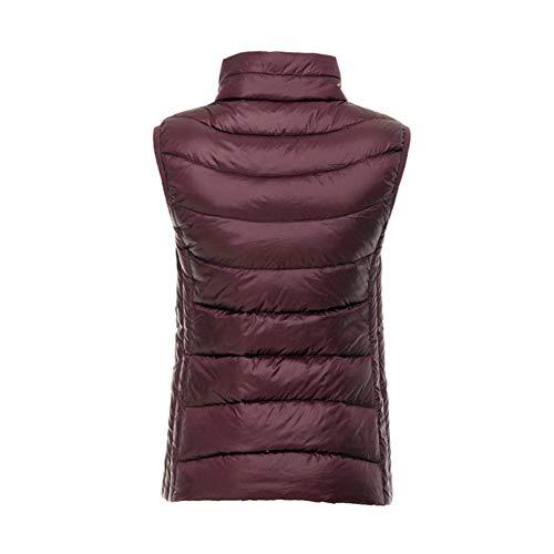 e corte Piumino Leggero rosso sottile giacche Vino donna Vest Verso da Wrap tftpwx7OAq