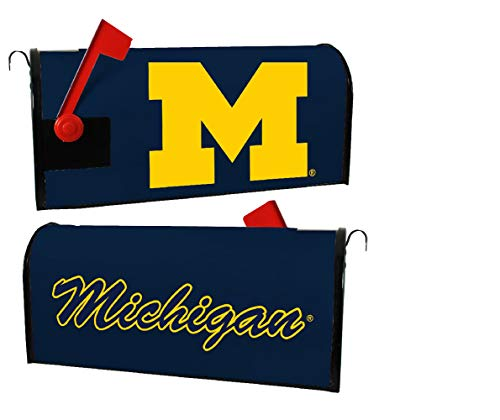 Black Ncaa Cover - R and R Imports NCAA Michigan Wolverines Magnetic Mailbox Cover-Navy