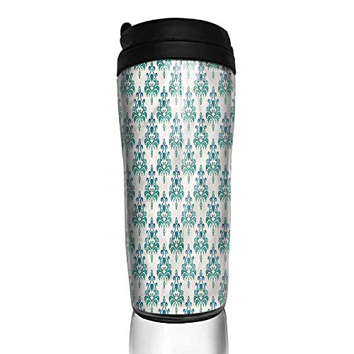 coffee cups with lids 12 oz Victorian,Leaves and Heart Shapes 12 oz,coffee cup funny for women