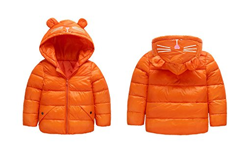 orange Winter Fairy Boys Blue Baby Royal Baby Light Outwear Hoodie Size Girls 4T 3 Kids Down Jacket Coat Ear Warm ppqBSwHxI