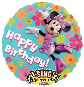 MINNIE MOUSE ClubHouse Happy Birthday Party SING A Tune Singing Birthday Balloon (Singing Birthday Balloons)