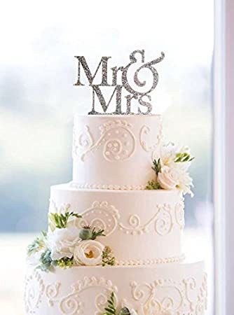 Usa sales mr and mrs sign bride and groom cake topper silver usa sales mr and mrs sign bride and groom cake topper silver junglespirit Image collections