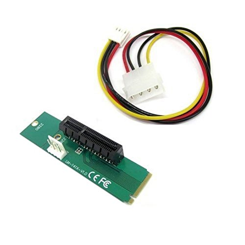 CY PCI Express PCI-E 4x hembra a NGFF M.2M clave macho adaptador convertidor Tarjeta con cable de alimentación