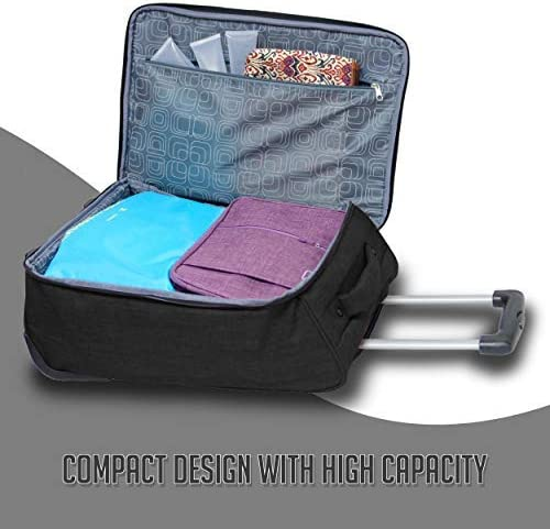 Travigo 20 Collapsible Carry On Luggage Two-Tone Polyester 900D