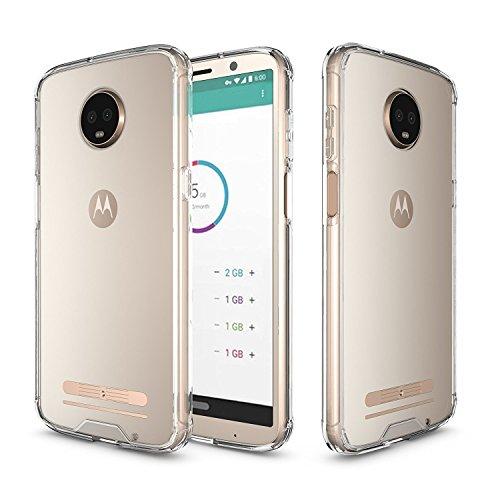 Idenmex Funda Case para Motorola Moto Z3 Play, Acrílico Rígido con Bordes de Plástico TPU, Color Transparente