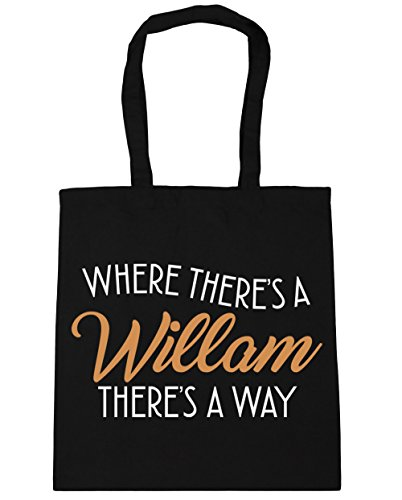 Shopping x38cm A 42cm Where There's 10 A Bag Willam Gym HippoWarehouse Black litres Tote Beach There's Way Bq18COXnw