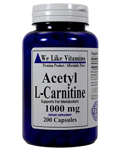 Acetyl L Carnitine 1000mg 200 Capsules product image