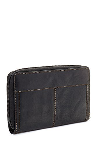 Jack Georges Voyager Large Zip-Around Leather Travel Wallet in Brown by Jack Georges (Image #3)