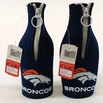 SET OF 2 DENVER BRONCOS NFL BOTTLE SUIT KOOZIES