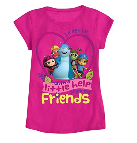 Price comparison product image Beat Bugs Toddler Shirt for Girls Graphic Character T Shirt Tee (4)