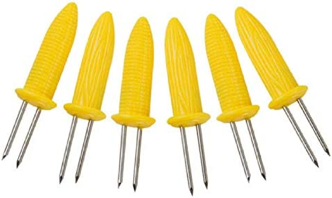 Kitchen Gadget 6 Pcs/Set BBQ Corn Holders Fork Multi-Function Stainless Steel Barbecue Corn Tools Party Kitchen Barbecue Supplies Simple Operation and Convenient Use