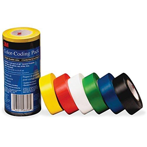 Price comparison product image 3M Vinyl Tape 764 Color-coding Pack 7641226PK MMM7641226PK (Box of 3)