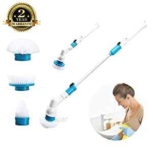 Spin Scrubber Electric Powerful Cleaning Brush with Extension Handle Tub and Tile Scrubber for Bathroom Floor Tiled Wall and Bathtub