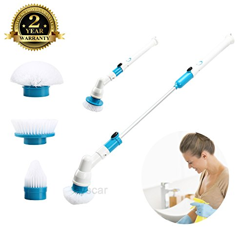 Price comparison product image Spin Scrubber Electric Powerful Cleaning Brush with Extension Handle Tub and Tile Scrubber for Bathroom Floor Tiled Wall and Bathtub