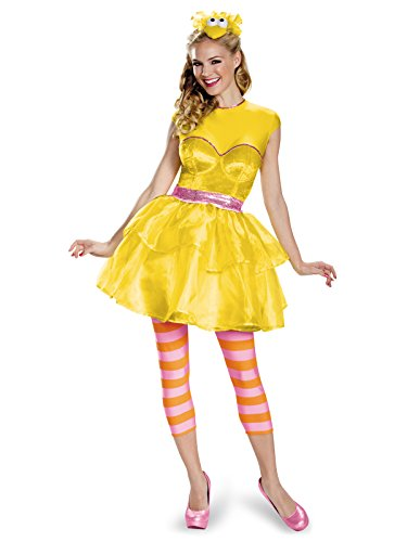Disguise Women's Big Bird Sweetheart Dress Costume, Yellow,