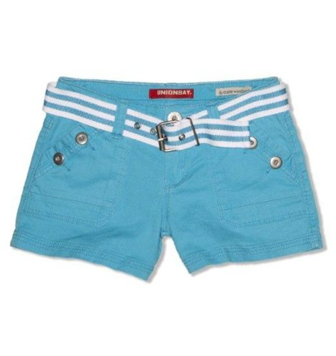 (UNIONBAY Big Girl's Belted Twill Shorts (7, Cabo))