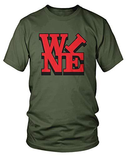 (Amdesco Men's Wine T-Shirt, Moss Green 3XL)