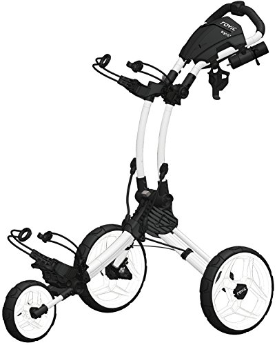 Clicgear Rovic Model RV1C Compact | 3-Wheel Golf Push Cart (Arctic/White)