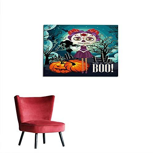kungfu Decoration Photo Wall Paper Halloween,Cartoon Girl with