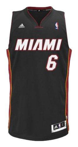 NBA Miami Heat LeBron James Swingman Jersey, Black, XX-Large