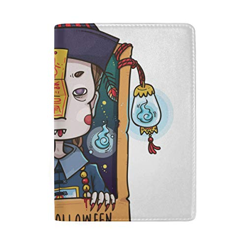 Cute Cartoon Zombies Blocking Print Passport Holder Cover Case Travel Luggage Passport Wallet Card Holder Made With Leather For Men Women Kids -